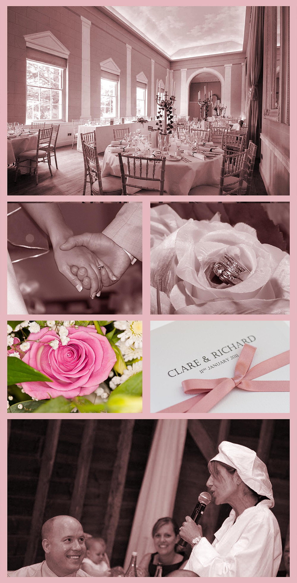 Gorgeous Wedding venue, invitations flowers and rings