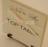 Handmade Co-ordinating Table Name