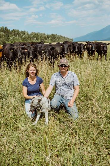 Dale and Wendy McNamar Kootenay Natural Meats.