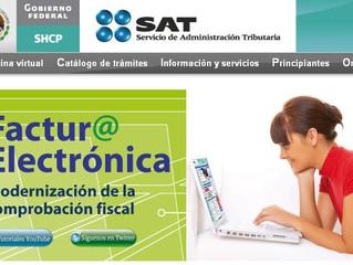 SAT da a conocer facilidades en materia de factura electrónica.