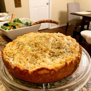 Chicken and Zucchini Pie with Sweet Potato Dough