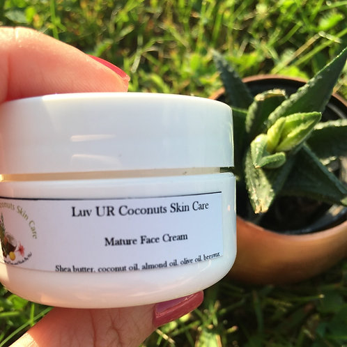 Mature Face Cream (1/2 oz) by LuvURCoconuts