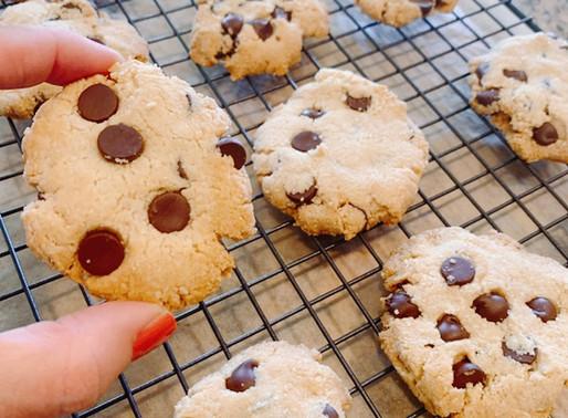 Cookies de Amêndoa e Chocolate com Sal Marinho (Sem Glúten)