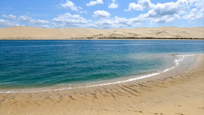 Vue de la Dune de Pyla, du Banc d'Arguin