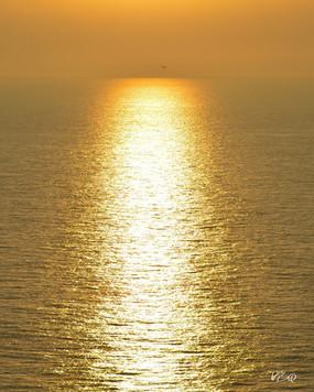 Coucher de soleil à Etretat