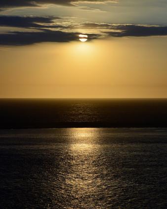 Coucher de soleil, vue sur le Banc D'Arg