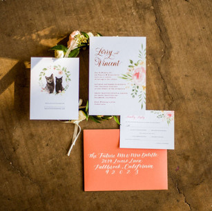 Lorry & Vincent's Custom Invitation Suite