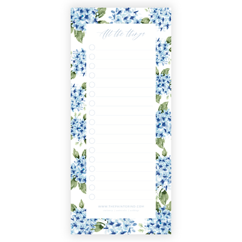 """Hydrangea """"All the things"""" Notepad"""