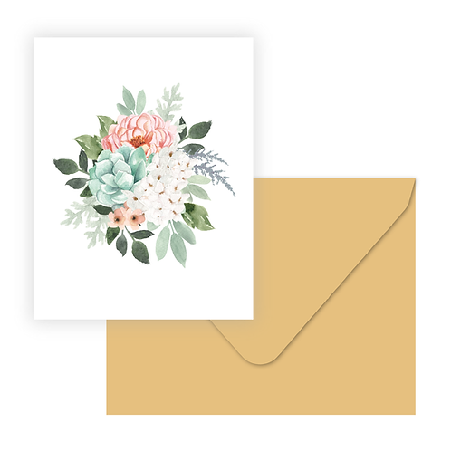 Spring Bouq Greeting Card