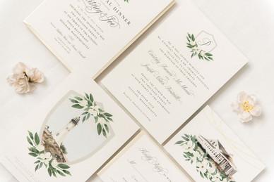 Custom 2 Piece Wedding Invitation Suite