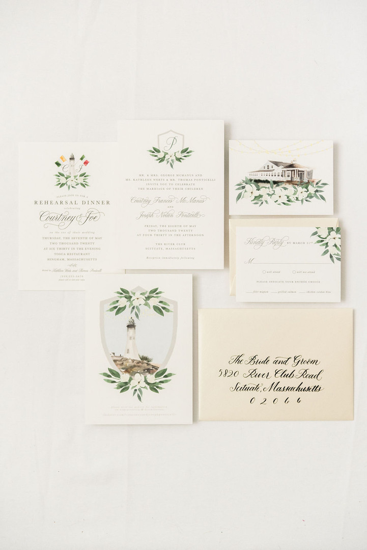 Rehearsal Dinner Invitations that match your suite
