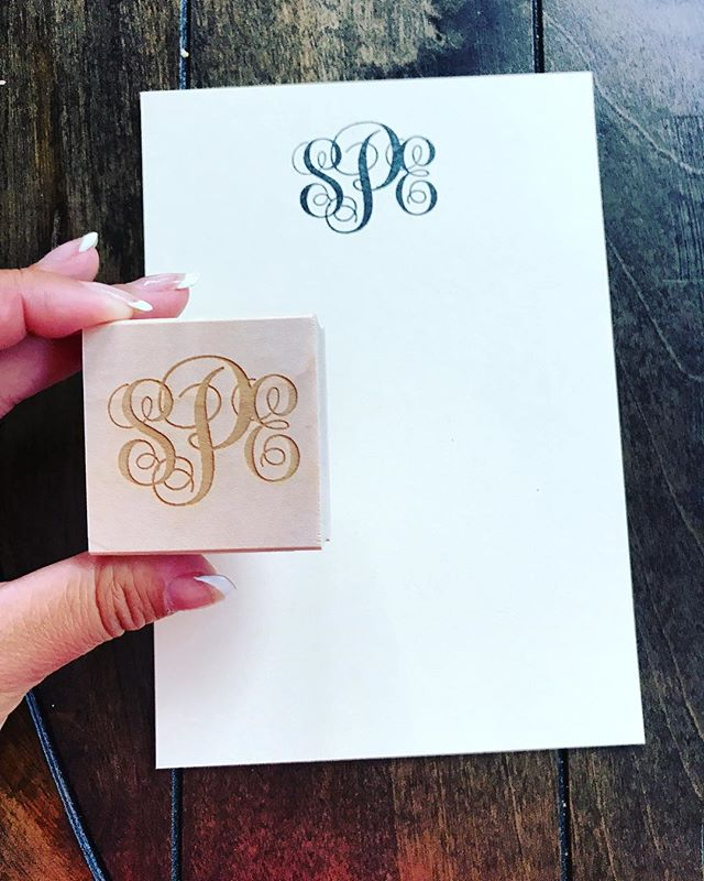 Every new Bride needs a monogram stamp w