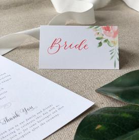 Bride Custom Place Cards
