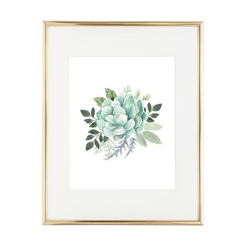 "Succulent Bouq 8""x10"" Art Print"