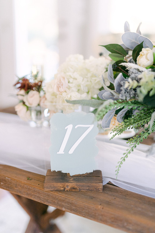 Acrylic Painted Table Numbers