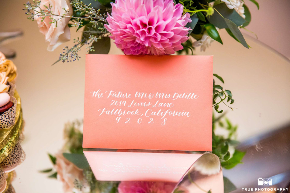 Guest Address Envelope Calligraphy