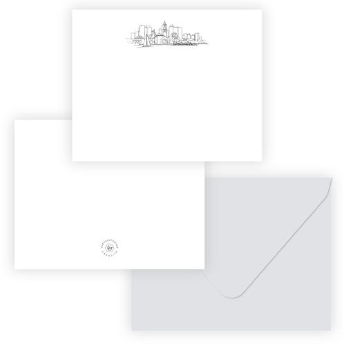 Boston Skyline Stationery Set