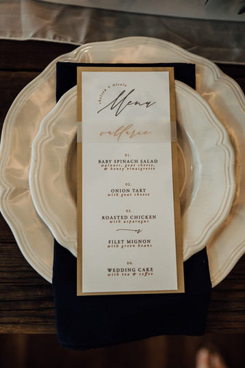 Intimate Ceremony Place Setting