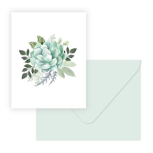 Succulent Bouq Greeting Card