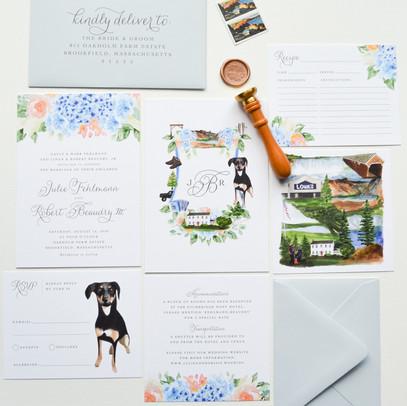 Custom Wedding Invitations Pet Portrait