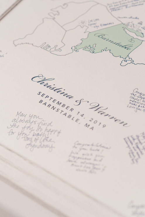Guest Book Map Sign