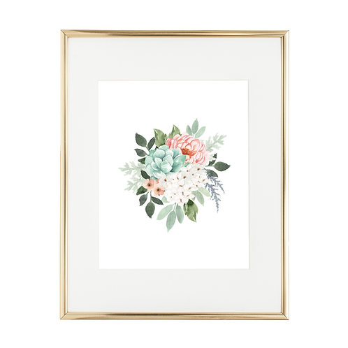 "Spring Bouq 8""x10"" Art Print"