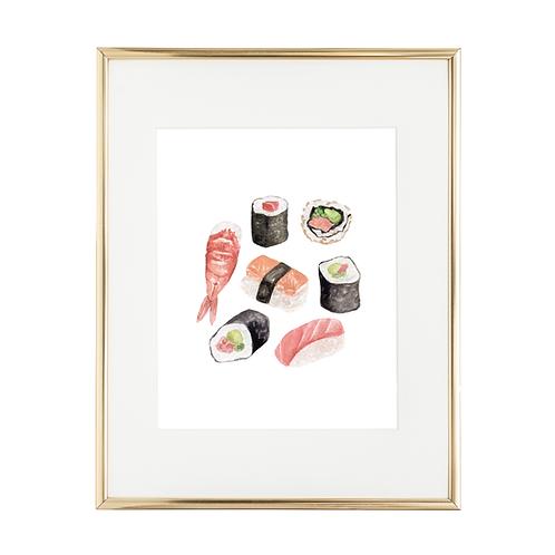 "Sushi 8""x10"" Art Print"