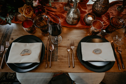 Intimate Ceremony and Reception Place Setting