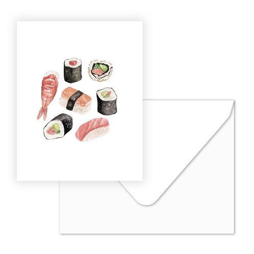 Sushi Greeting Card