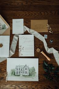 McAlister Leftwich Styled Shoot Custom Wedding Invitations