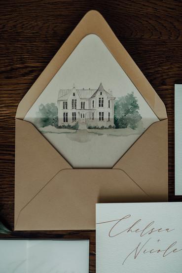 Venue Illustration Envelope Liners