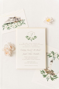 Custom Wedding Invitations Crest