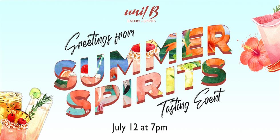 Summer Spirits Tasting Event