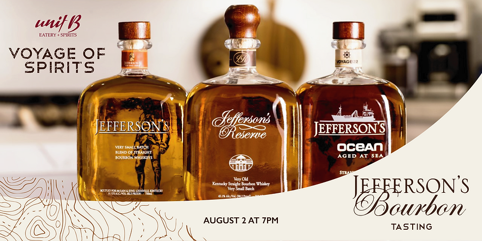 Voyage of Spirits:  Jefferson's Bourbon Tasting + Dinner