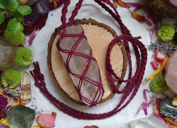 'Rooted' Quartz (Red Hemp - large)
