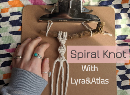 Spiral/Half Square Knot Tutorial