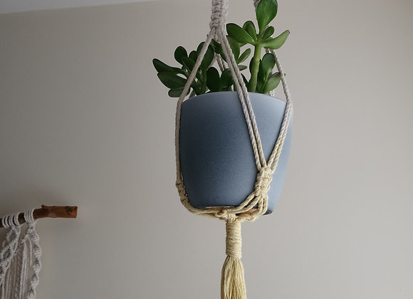 Yellow Dip Dyed Plant Hanger (small)
