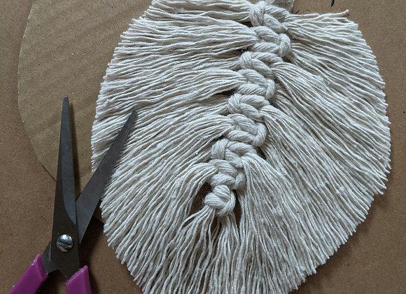 DIY KIT - mini macrame feather