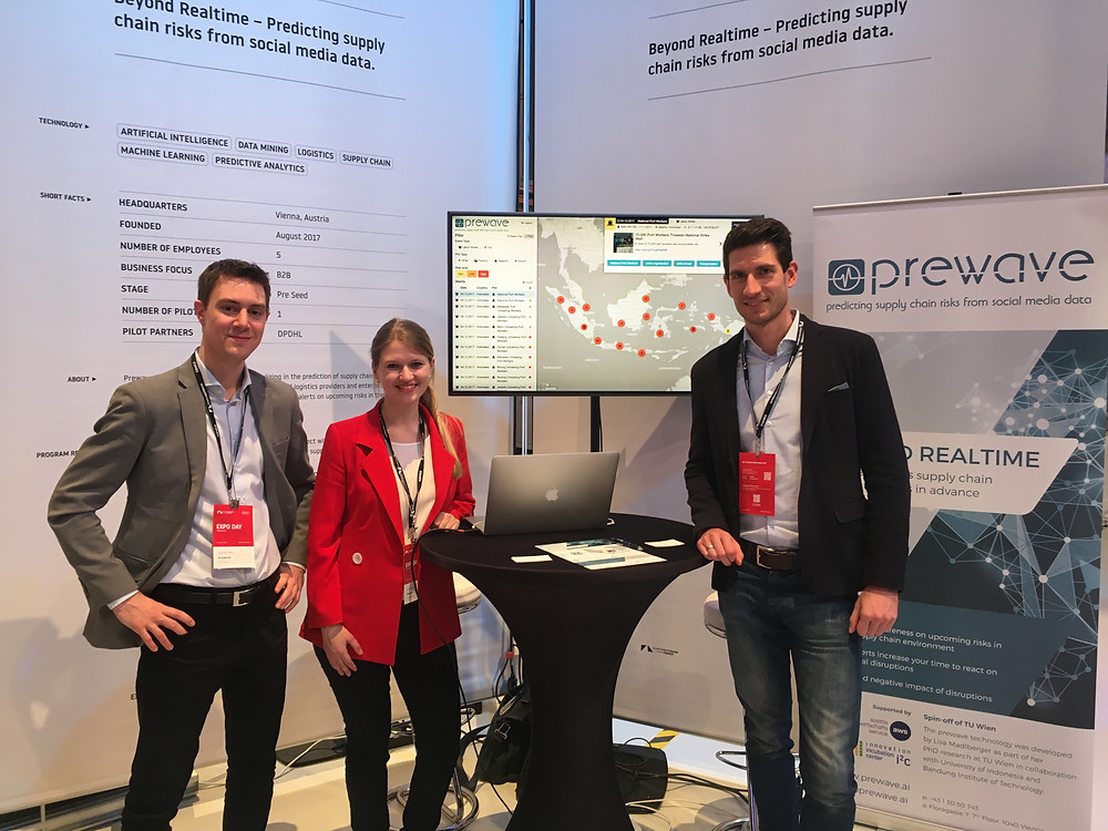 The Prewave team at StartupAutobahn in Stuttgart