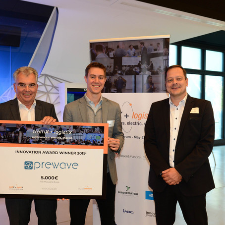 Prewave wins the MunichNetwork traffiX + logistiX Innovation Award 2019