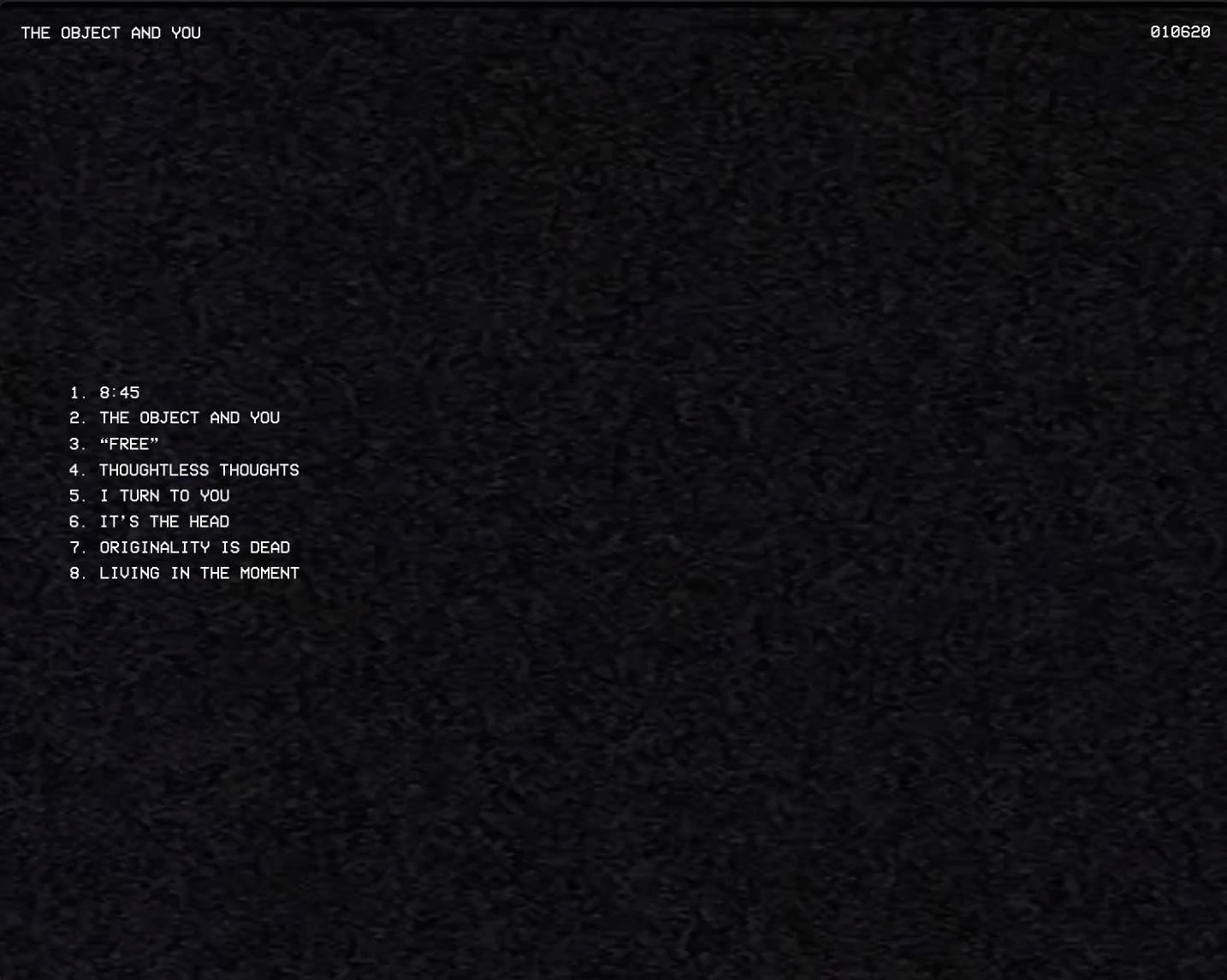 Album Contents page.