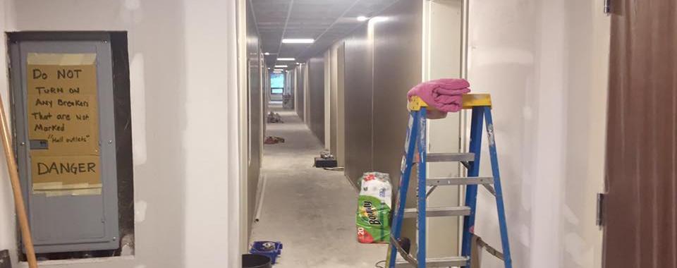 Hallways before