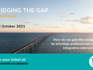 Bridging the Gap. Yes to Life Autumn Event with a 25% special discount to Wigwam members.