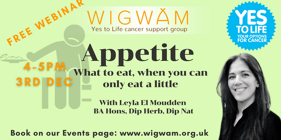 Appetite  - what to eat, when you can only eat a little