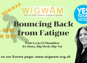 Bouncing back from fatigue (from cancer treatment)