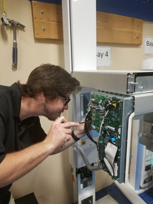 Erik working on one of our Digital Panoramic X-ray systems