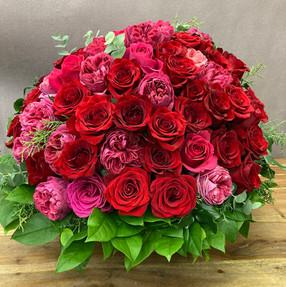 薔薇のアレンジメント