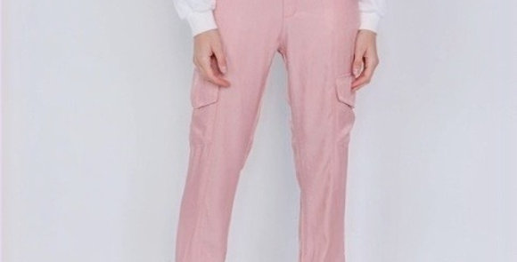 Pretty Pink Cargo Jogger