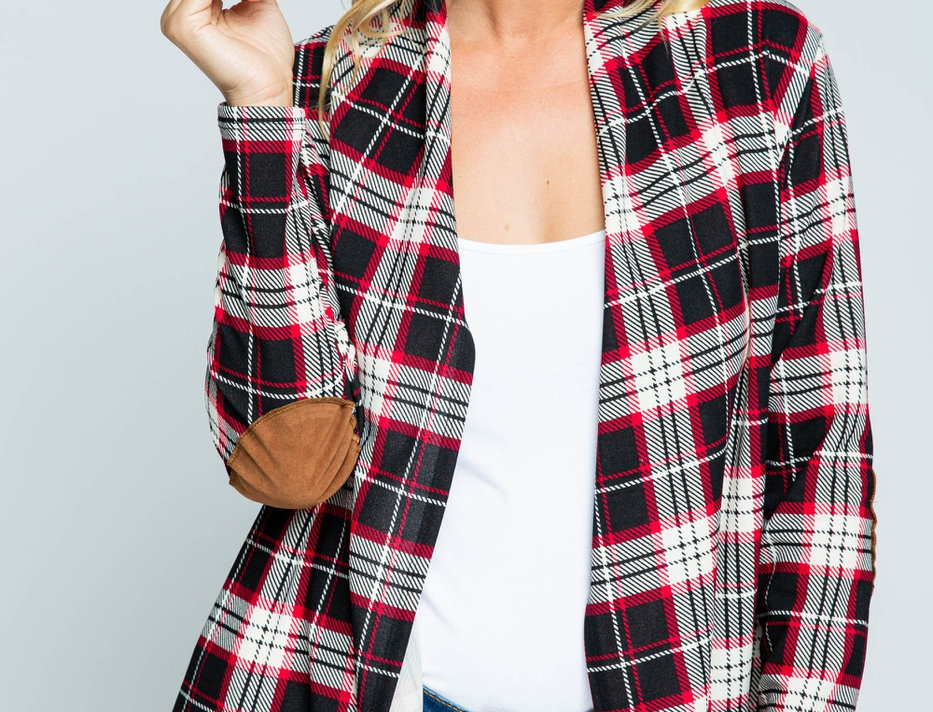 Plaid & Patches Top