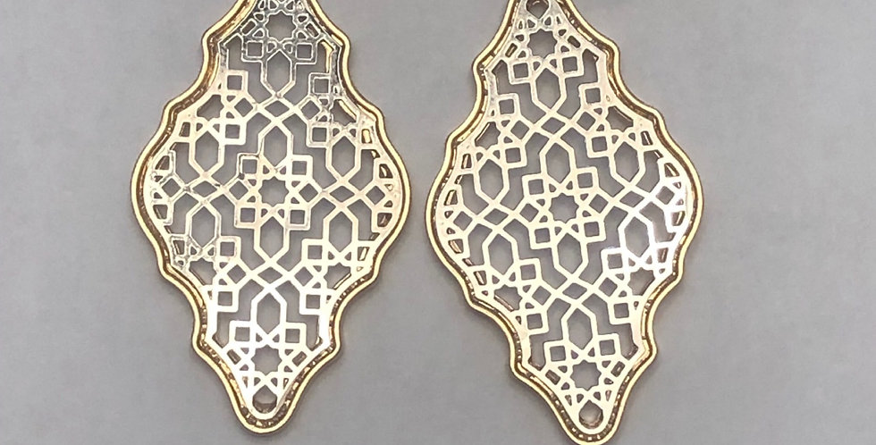 Two Tone Filigree Earrings